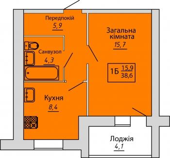№36. Квартира (1Б)