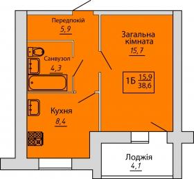 №64. Квартира (1Б)