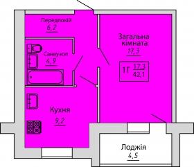 №70. Квартира (1Г)