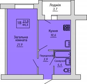 №68. Квартира (1В)